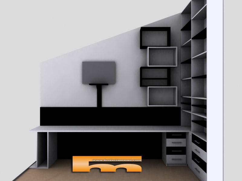 Escritorio estanteria beautiful escritorio de pared xxcm - Estanterias para escritorios ...