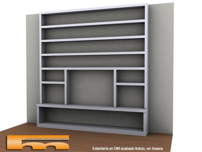 Estanteria mueble tv barcelona arturo - Librerias a medida ...