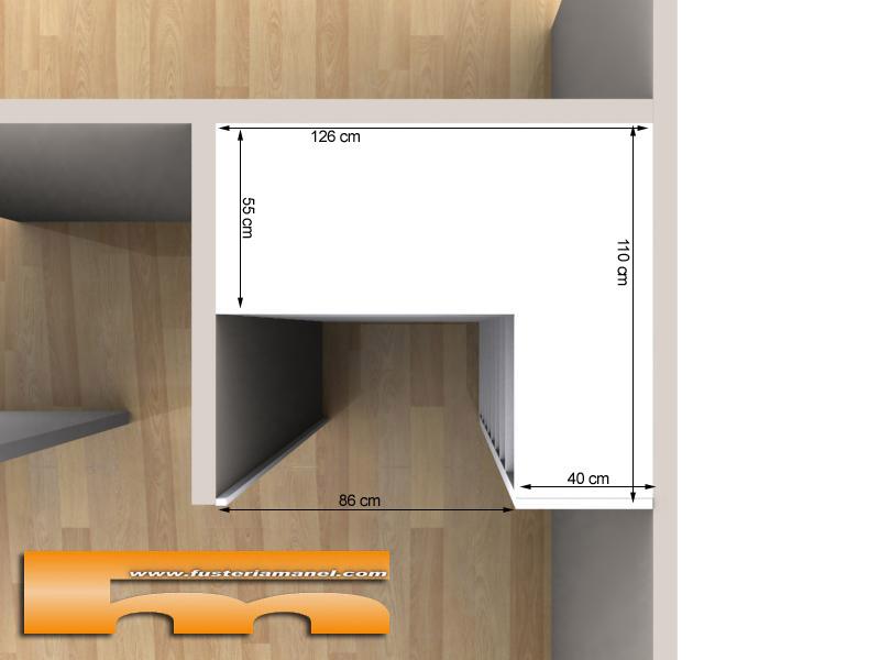 Armario esquinero affordable armarios blancos y cajones esquineros en la cocina moderna with - Armarios de esquina a medida ...