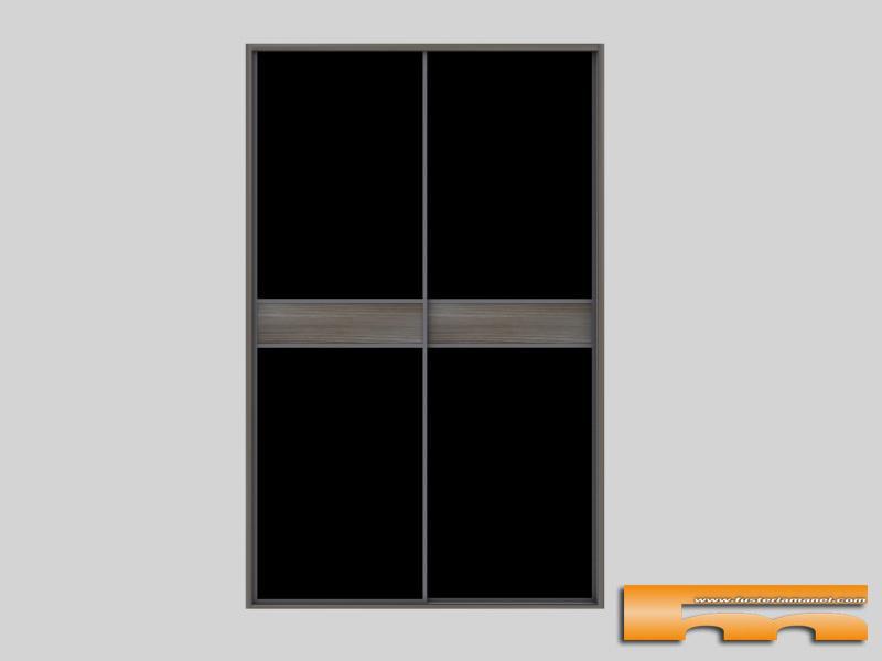 De armario frente de armario con 2 puertas correderas en - Armarios con puertas de cristal ...