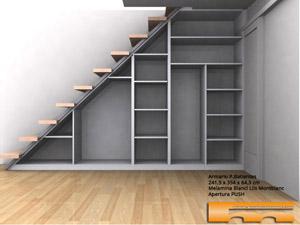 Armario a medida bajo escalera xavier barcelona for Armario debajo escalera