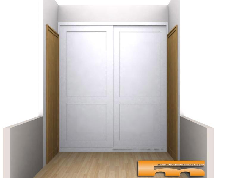 Armario empotrado a medida lacado puertas correderas - Molduras de puertas ...