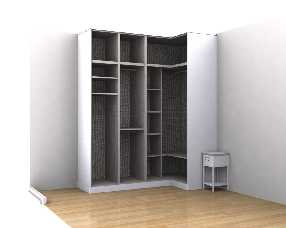 Interiores de armarios en esquina - Diseno de armarios a medida ...