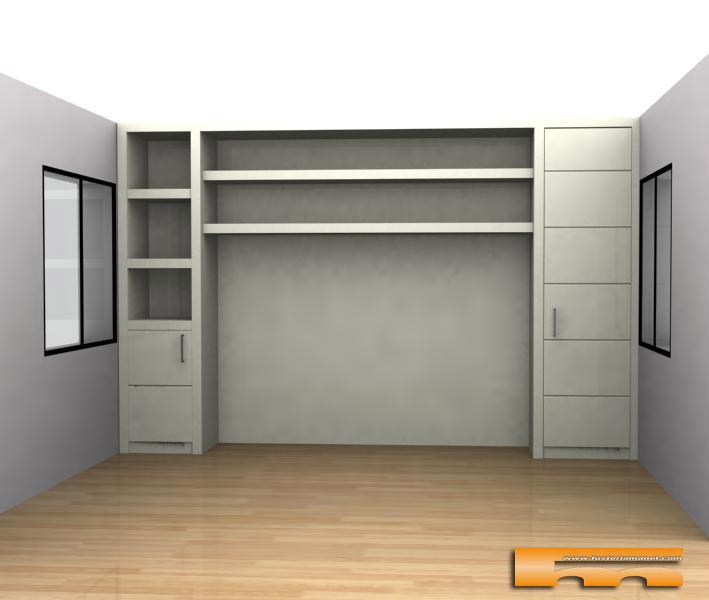 Armarios empotrados a medida para mueble de pladur - Estantes para armarios empotrados ...