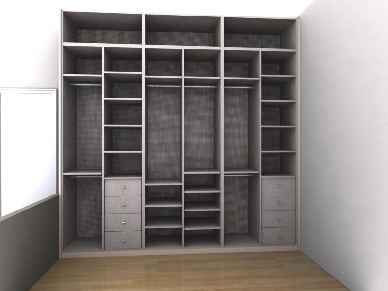 interior armario a medida matrimonio d