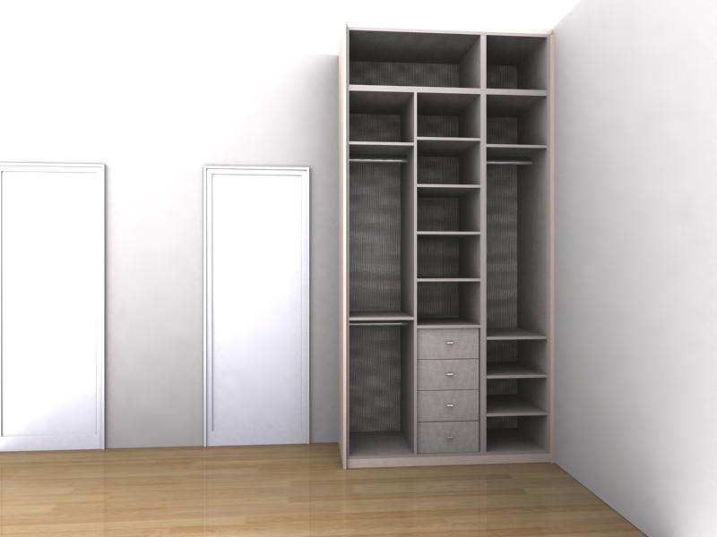 Diseo de armarios empotrados interesting fabricacion for Medidas closets modernos