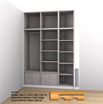 Interiores de armarios en esquina - Armarios a medida en barcelona ...