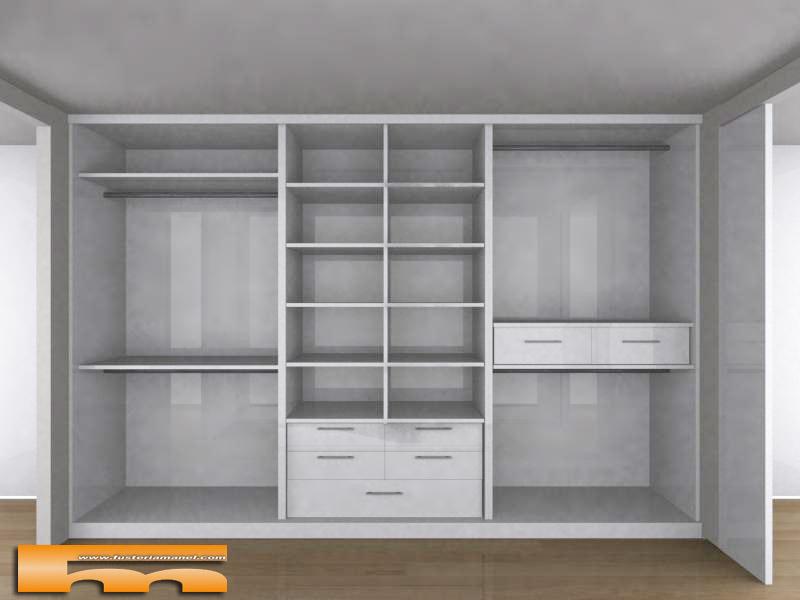 Interiores de armarios con puertas correderas - Armarios empotrados interiores ...