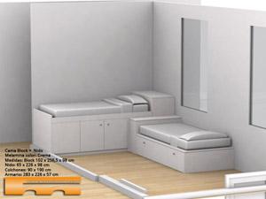 Habitacion infantil camas 2 alturas laia barcelona - Camas infantiles a medida ...