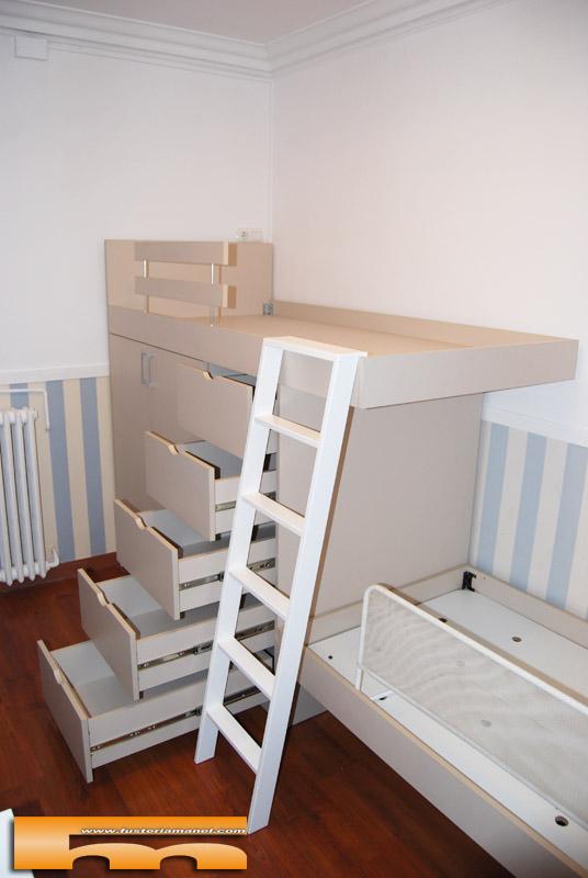 Cama alta a medida para cama existente pedro barcelona - Escaleras para camas altas ...