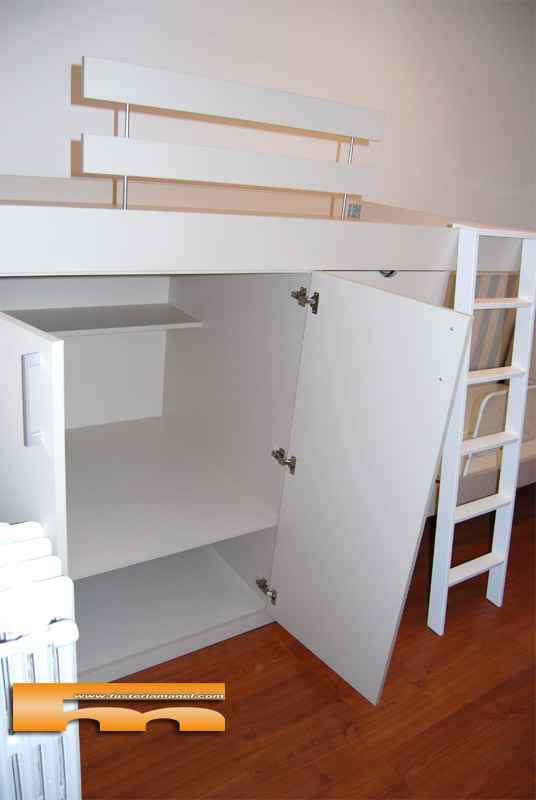 Cama alta a medida para cama existente pedro barcelona - Cama armario debajo ...
