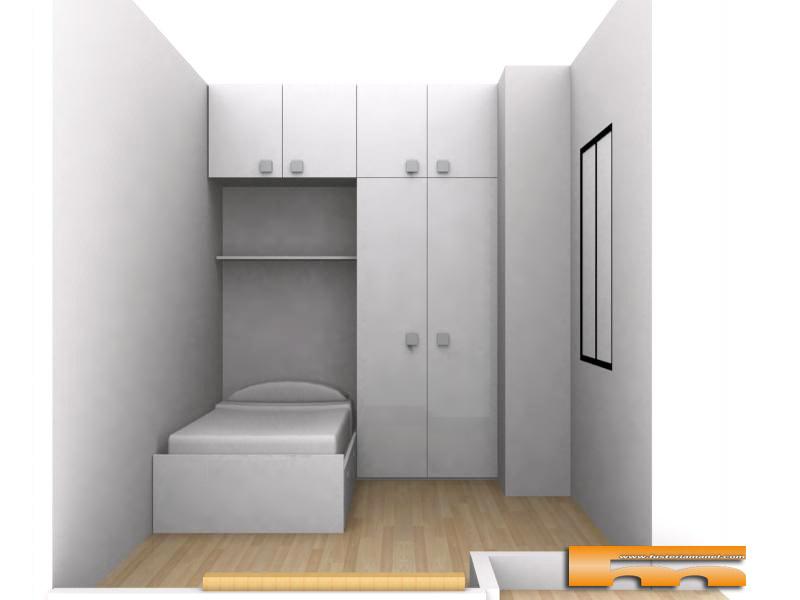 Cama con armario puente habitaci n infantil barcelona - Cama empotrada en armario ...