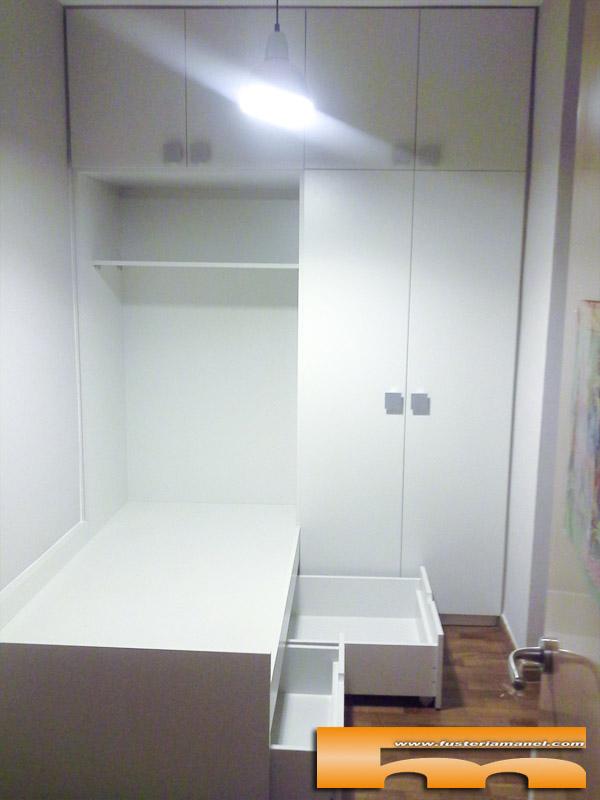 Habitaci n infantil muy peque a para compartir cama nido - Medidas cama doble ...
