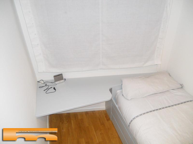 Cama con cajones escritorio y armario habitaci n juvenil for Cama nido con escritorio