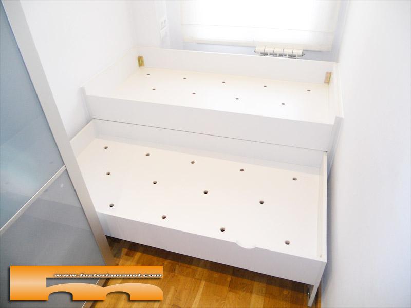 Cama compacta nido doble con caj n 181 5cm sant cugat for Cama compacta con escritorio