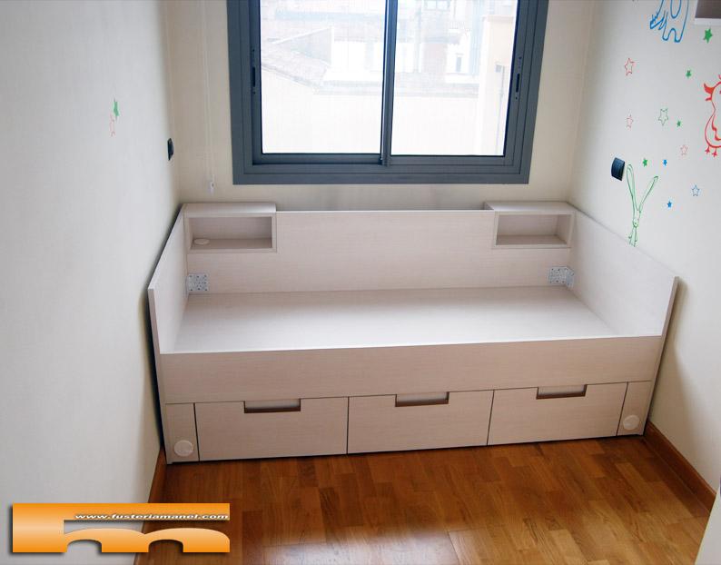 Cama tipo nido de 188 con cubre radiador terrassa ricard - Medidas camas infantiles ...