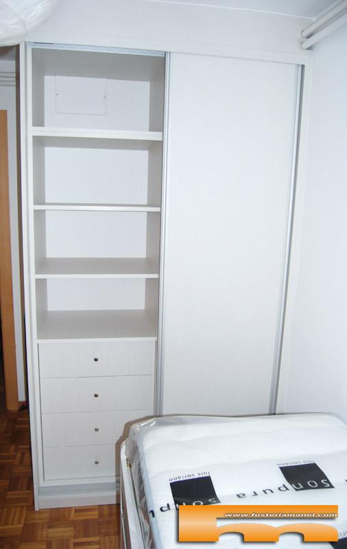 Habitaci n ni os con cama compacta armario escritorio - Habitacion a medida ...