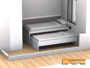 Habitaci n ni os con cama compacta armario escritorio for Habitacion nino cama nido