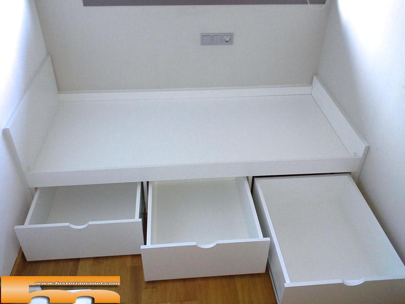 Medidas cama nido con cajones cama nido juvenil con for Cama compacta con cajones