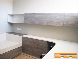 Cama compacta nido doble habitaci n infantil a medida santa coloma barcelona juan - Studio barcelona muebles ...