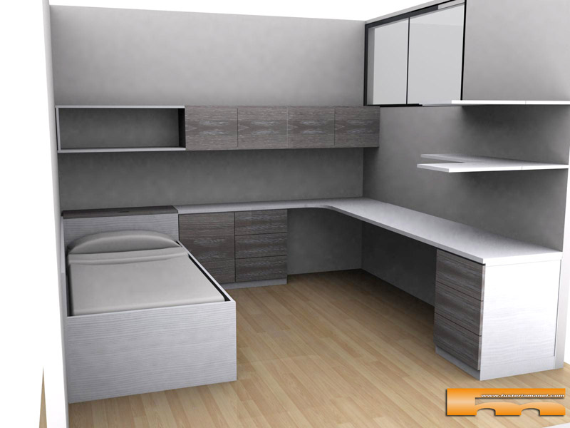 Cama nido a medida ni o habitaci n estudio a medida for Dormitorio estudio