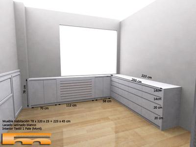 C moda a medida esquinera lacado dormitorio principal clara barcelona - Comodas a medida ...