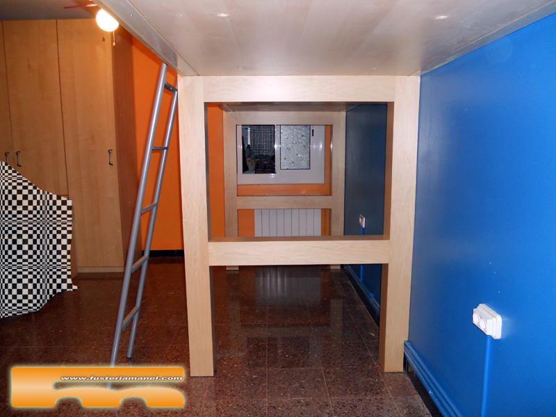 Habitaci n juvenil a medida camas altas cornella de - Habitacion juvenil barcelona ...