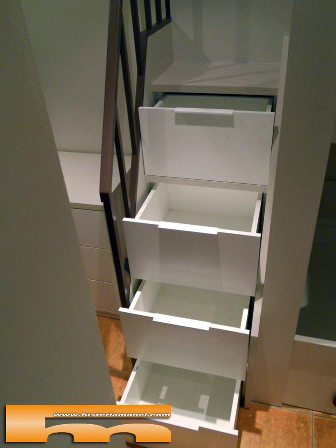 Litera medida y cama individual a medida muebles a - Literas con escaleras de cajones ...