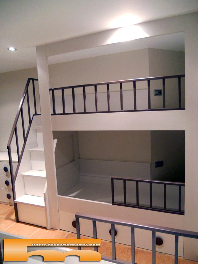 Literas y camas a medida - Escaleras para camas altas ...