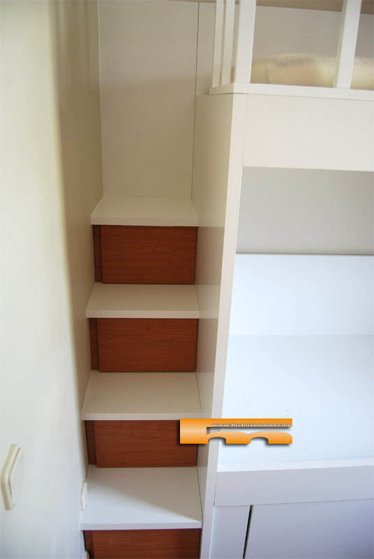 Litera escalera cajones a medida laia sitges - Litera con cajones ...