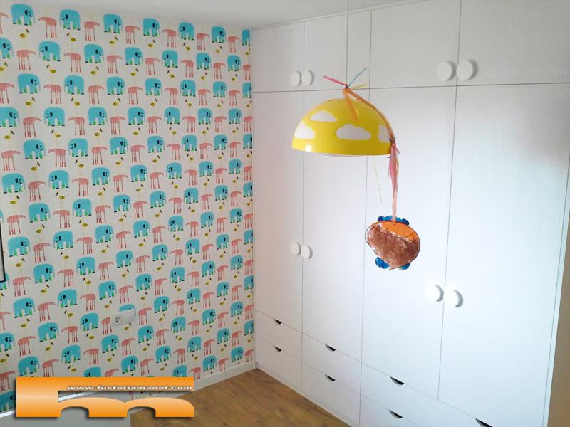 Habitacion infantil ni o cama y armario a medida elisabet balsareny - Armario habitacion infantil ...