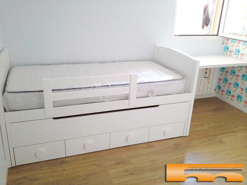 Habitacion infantil ni o cama y armario a medida - Medidas cama doble ...
