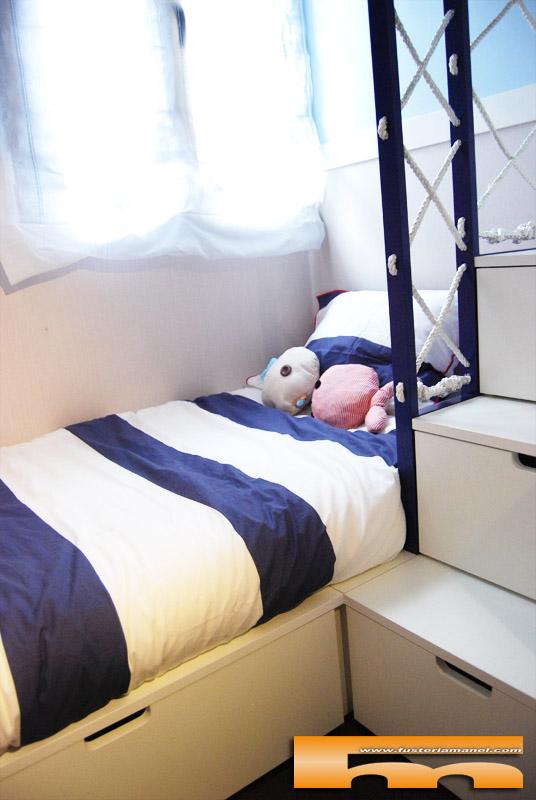 litera a medida decoracion marinera infantil_barandilla cama 160º