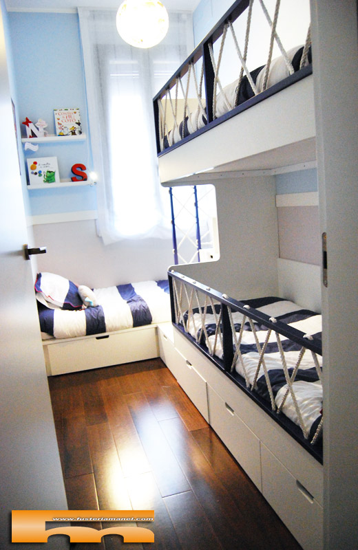 litera habitaci n triple infantil marinera vador rub
