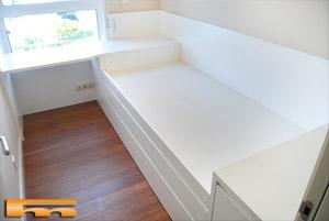 Habitacion 1 juvenil a medida cama cajones lacada carmen for Medidas camas compactas juveniles