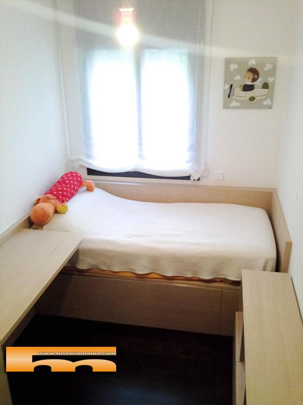 Habitacion ni o cama y armario a medida maria cerdanyola for Muebles vinaroz cerdanyola