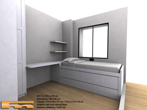 Cama compacta habitacion juvenil merce sant cugat - Colchones sant cugat ...