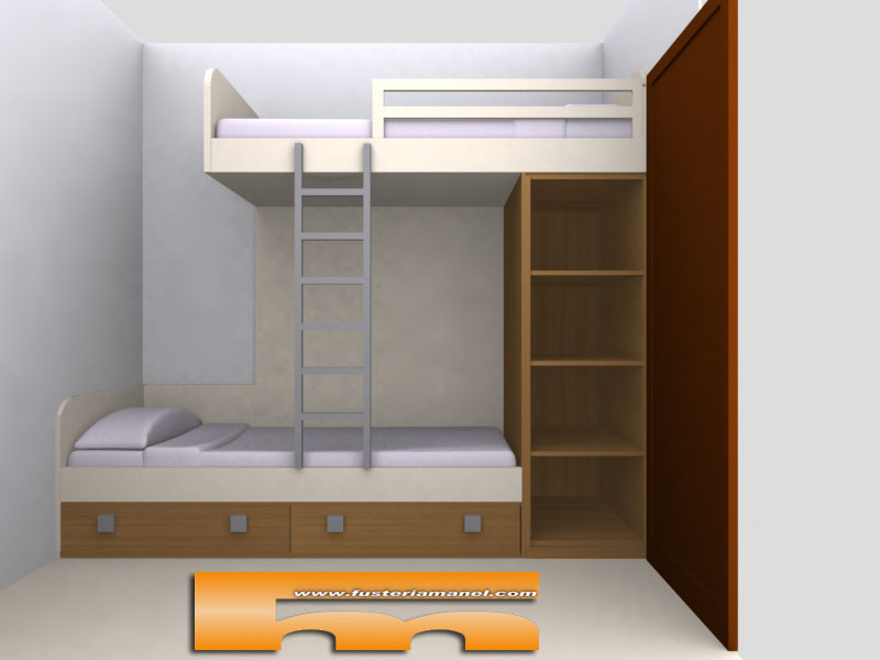 Litera a medida habitaci n juvenil barcelona carmen for Habitacion cuadruple barcelona