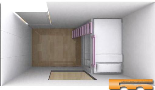 Decorar con armarios y muebles a medida - Literas para habitaciones pequenas ...