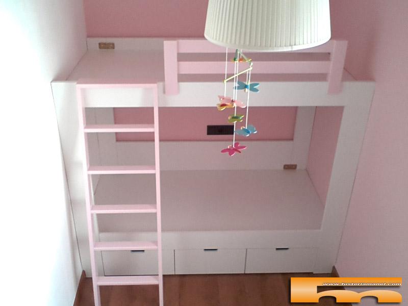 Litera 184cm ni as a medida sabadell judit for Habitaciones para ninas con literas