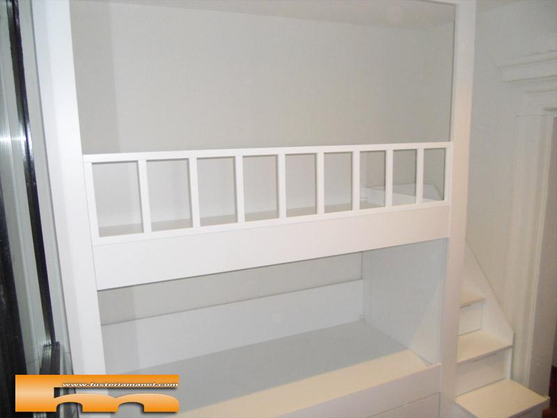 Litera a medida escalera lateral habitaci n infantil - Literas tren medidas ...