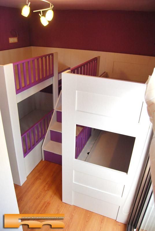 Literas habitaci n cuadruple beb s a medida gav isa for Habitacion cuadruple barcelona