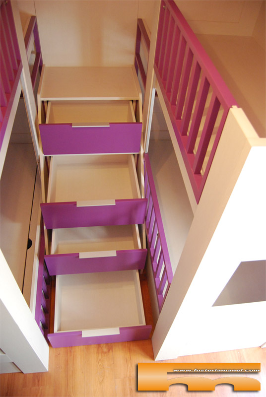 Escaleras para camas altas mesa para camas altas picture for Cama bajo escalera
