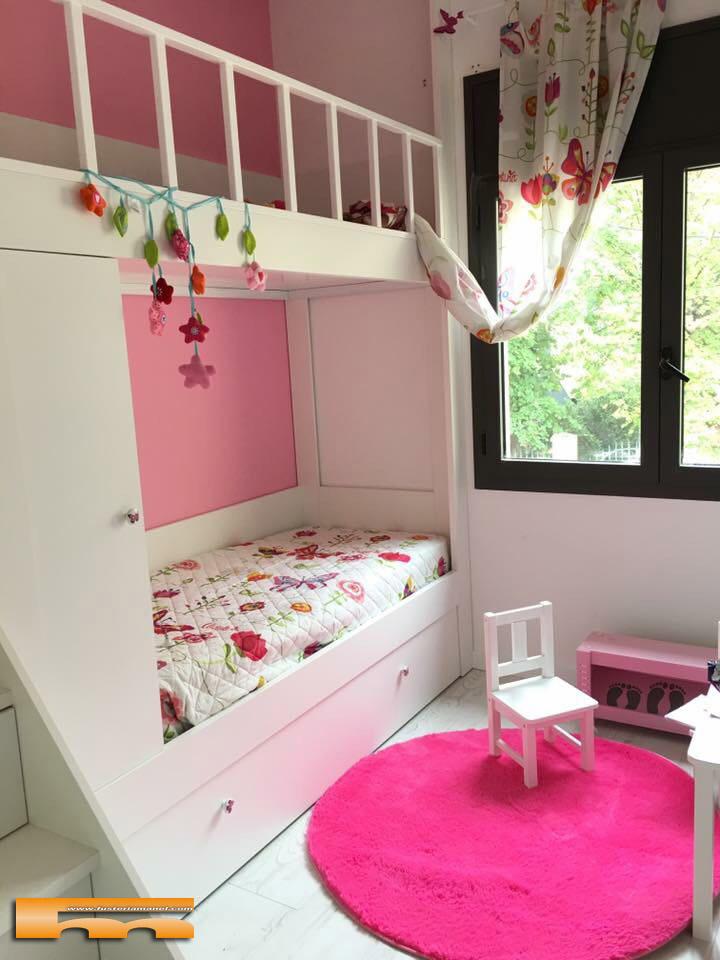 Litera escalera cajones a medida para habitaci n infantil - Literas con escaleras de cajones ...