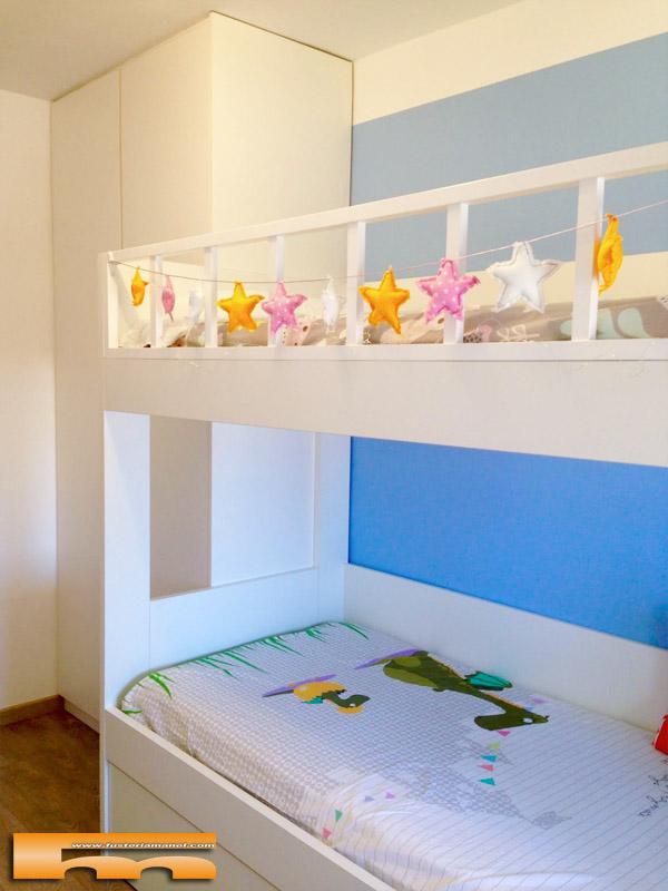 Litera escalera cajones habitaci n infantil barcelona for Habitacion cuadruple barcelona