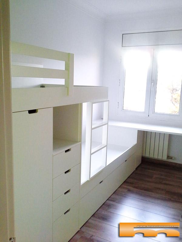 Litera tren habitaci n infantil eva barcelona for Habitacion con litera