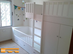Literas camas realizadas habitaciones fichas - Muebles barbera del valles ...