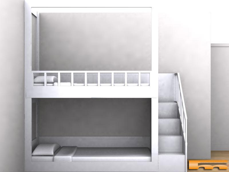 Escaleras para camas infantiles cool elegant cama cucheta for Barrera cama carrefour