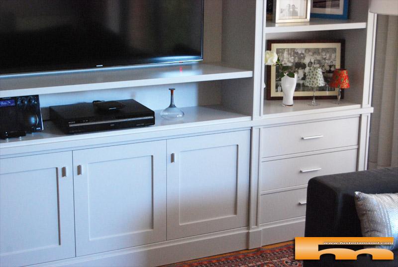 Librer a estanter a sal n a medida dm para pintar for Medidas mueble salon