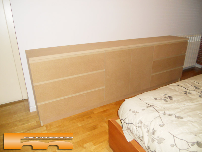 C moda grande a medida para pintar habitaci n de matrimonio barcelona elisabet - Comodas a medida ...